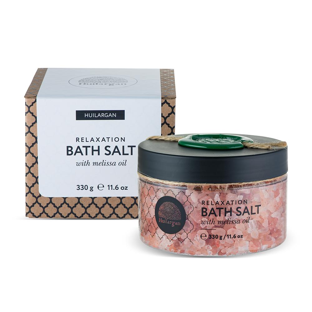 HUILARGAN Соль с маслом мелиссы для принятия ванн, очищение 330 г - Соли