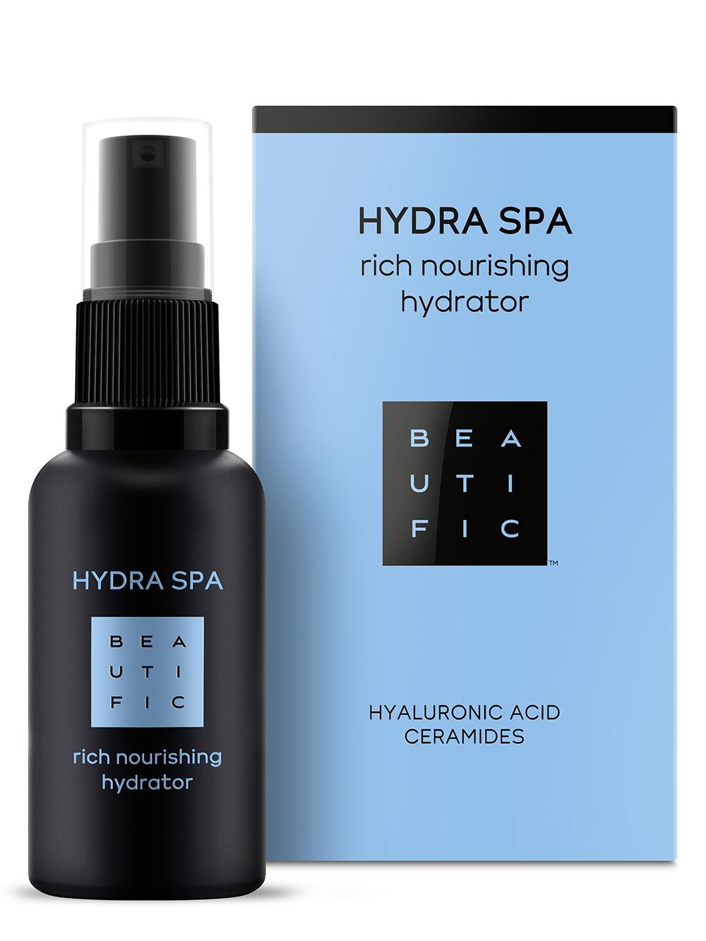 Купить BEAUTIFIC Крем увлажняющий насыщенный для лица с гиалуроновой кислотой и церамидами / Hydra SPA 30 мл