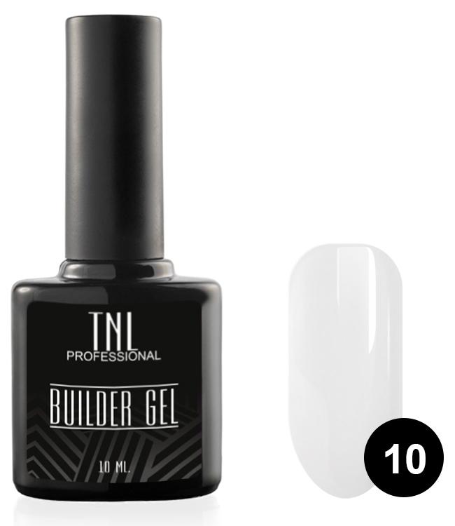 TNL PROFESSIONAL Гель моделирующий камуфлирующий для ногтей, 10 белый / Builder Gel мл