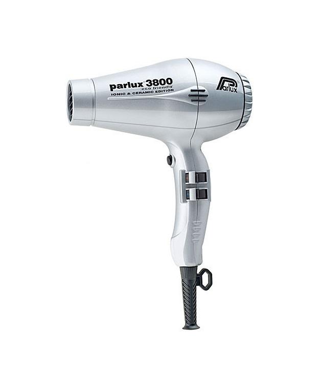 Купить PARLUX Фен Parlux 3800 Ceramic+Ionic серебристый, ионизация, 2 насадки 2100 Вт