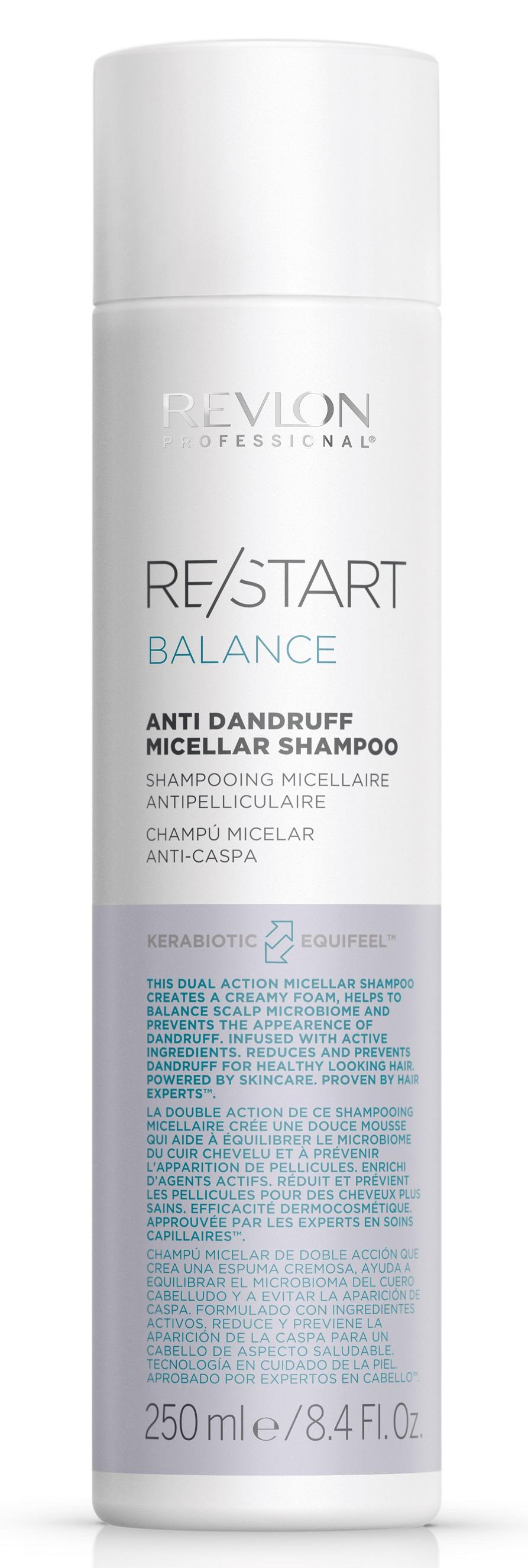 Купить REVLON PROFESSIONAL Шампунь мицеллярный для кожи головы против перхоти и шелушений / RESTART BALANCE ANTI DANDRUFF MICELLAR SHAMPOO 250 мл