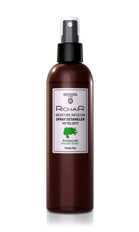 EGOMANIA Спрей-кондиционер для облегчения расчесыванияя интенсивное увлажнение с маслом авокадо/RICHAIR 250мл