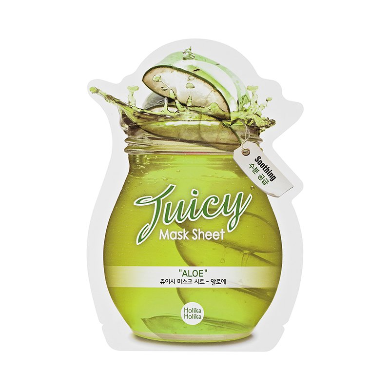 HOLIKA HOLIKA Маска тканевая для лица (сок алоэ) Джуси Маск / Juicy Mask Sheet Aloe 20мл