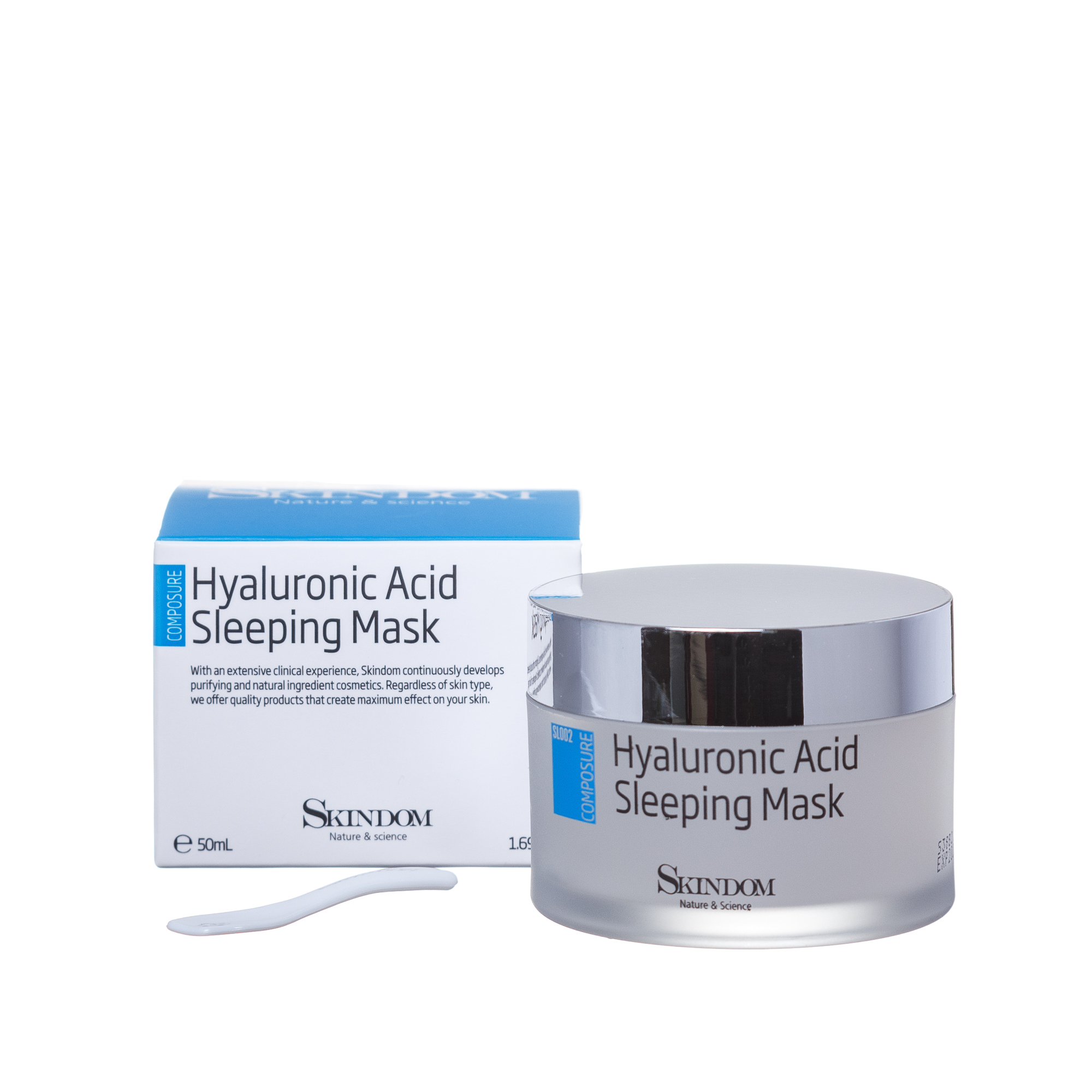 SKINDOM Маска ультраувлажняющая ночная с гиалуроновой кислотой / HYALURONIC ACID SLEEPING MASK 50 мл фото