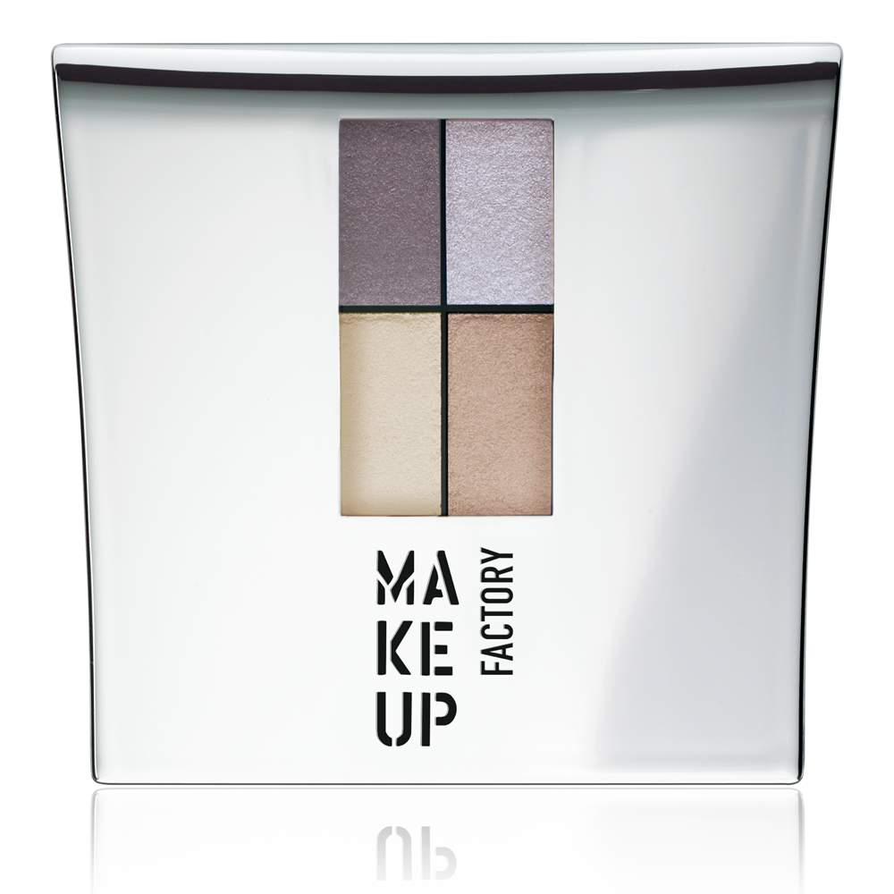 MAKE UP FACTORY Тени 4-х цветные для глаз, 84 серый пурпур - серый - светлый беж - молочный / Eye Colors 4,8 г misslyn 4 х цветные тени для век eye mazing 42 4 х 0 8 г