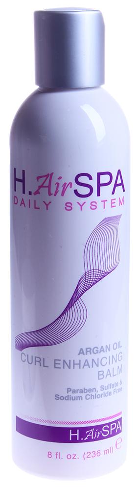 H AIRSPA Крем для усиления кудрей / Argan Oil Curl Enhancing Balm 236млКремы<br>Помогает создать мягкие кудри без лишних завитков. Увлажняет волосы, насыщая маслом арганы. Содержит про-витамин В5, кератин, которые помогают восстановить волосы и придать блеск. Активные ингредиенты: масло арганы, про-витамин В5, кератин.Способ применения: для создания кудрей нанесите небольшое количество бальзама, равномерно распределяя на подсушенные полотенцем волосы. Укладывайте, создавая кудри при помощи плоек, или любым привычным вам способом. Если волосы сохнут естественным способом, нанесите на влажные волосы и немного помните их для создания волны.<br><br>Типы волос: Кудрявые