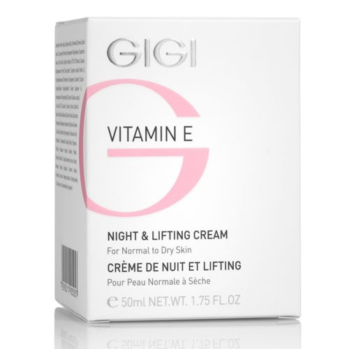 GIGI Крем лифтинговый ночной / Night&amp;Lifting Cream VITAMIN E 250млКремы<br>Высокоактивный крем с нежнейшей текстурой оказывает выраженный лифтинговый и укрепляющий ткани эффект. Действие: Доставляет ценные питательные и увлажняющие вещества в глубокие слои эпидермиса. Витамин Е в максимальной концентрации и наиболее биодоступной форме укрепляет сосудистую стенку, замедляет процессы старения и образования морщин, активизирует клеточное дыхание и кровообращение в дерме. Входящая в состав одна из форм витамина А стимулирует клеточное обновление и повышает эластичность кожи. Ценные растительные масла оказывают многоуровневое восстанавливающее действие на процессы клеточного обновления и репарации на протяжении всей ночи. Кожа становится безукоризненно гладкой, сияющей и шелковистой. Активные компоненты: масло жожоба, масло ши, витамин Е, сквален, молочная кислота, мочевина, сорбитол, полисахариды, ретинила пальмитат. Способ применения: наносить легкими массажными движениями на очищенную кожу до полного впитывания. Хороший эффект дает в сочетании с сывороткой Витамин Е.<br><br>Объем: 250<br>Вид средства для лица: Укрепляющий<br>Возраст применения: После 35<br>Типы кожи: Чувствительная<br>Назначение: Морщины<br>Время применения: Ночной