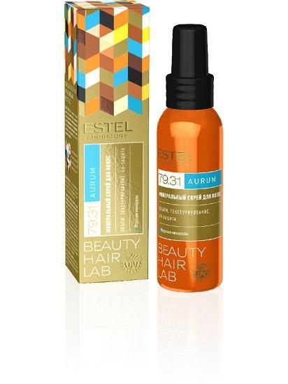 ESTEL PROFESSIONAL Спрей минеральный для волос / BEAUTY HAIR LAB AURUM 100 мл масла estel драгоценное масло для волос estel beauty hair lab aurum 100 мл