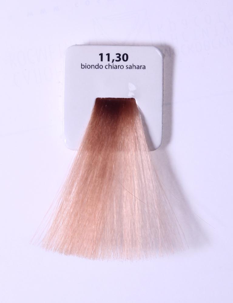KAARAL 11.30 краска для волос / Sense COLOURS 100млКраски<br>11.30 экстра светлый интенсивно-золотистый блондин Перманентные красители. Классический перманентный краситель бизнес класса. Обладает высокой покрывающей способностью. Содержит алоэ вера, оказывающее мощное увлажняющее действие, кокосовое масло для дополнительной защиты волос и кожи головы от агрессивного воздействия химических агентов красителя и провитамин В5 для поддержания внутренней структуры волоса. При соблюдении правильной технологии окрашивания гарантировано 100% окрашивание седых волос. Палитра включает 93 классических оттенка. Способ применения: Приготовление: смешивается с окислителем OXI Plus 6, 10, 20, 30 или 40 Vol в пропорции 1:1 (60 г красителя + 60 г окислителя). Суперосветляющие оттенки смешиваются с окислителями OXI Plus 40 Vol в пропорции 1:2. Для тонирования волос краситель используется с окислителем OXI Plus 6Vol в различных пропорциях в зависимости от желаемого результата. Нанесение: провести тест на чувствительность. Для предотвращения окрашивания кожи при работе с темными оттенками перед нанесением красителя обработать краевую линию роста волос защитным кремом Вaco. ПЕРВИЧНОЕ ОКРАШИВАНИЕ Нанести краситель сначала по длине волос и на кончики, отступив 1-2 см от прикорневой части волос, затем нанести состав на прикорневую часть. ВТОРИЧНОЕ ОКРАШИВАНИЕ Нанести состав сначала на прикорневую часть волос. Затем для обновления цвета ранее окрашенных волос нанести безаммиачный краситель Easy Soft. Время выдержки: 35 минут. Корректоры Sense. Используются для коррекции цвета, усиления яркости оттенков, создания новых цветовых нюансов, а также для нейтрализации нежелательных оттенков по законам хроматического круга. Содержат аммиак и могут использоваться самостоятельно. Оттенки: T-AG - серебристо-серый, T-M - фиолетовый, T-B - синий, T-RO - красный, T-D - золотистый, 0.00 - нейтральный. Способ применения: для усиления или коррекции цвета волос от 2 до 6 уровней цвета корректоры добавляются в