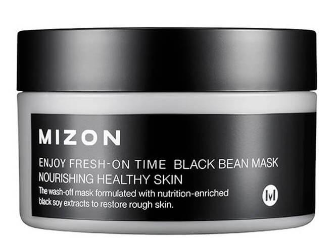 MIZON Маска с черными соевыми бобами для лица / ENJOY FRESH-ON TIME BLACK BEEN MASK 100 мл