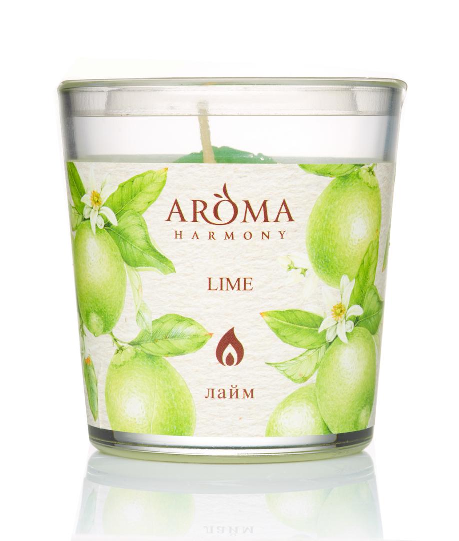 Купить AROMA HARMONY Свеча ароматическая Лайм 160 г