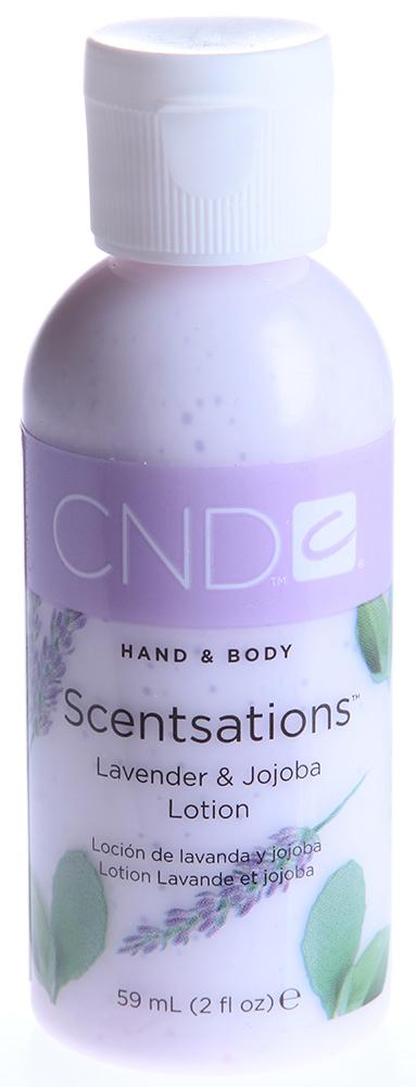 CND Лосьон для рук и тела Лаванда &amp; Жожоба / SCENTSATIONS 59млЛосьоны<br>Лосьоны для рук и тела. Содержат витамины А, Е, экстракт Алоэ Вера, которые увлажняют, смягчают кожу и регулируют ее кислотно-щелочной баланс. Коллекция состоит из лосьонов с экстрактами и запахами на любой вкус. Лосьоны можно использовать на заключительной стадии любого вида маникюра, а также для домашнего ухода за руками и телом.<br><br>Объем: 59<br>Класс косметики: Домашняя