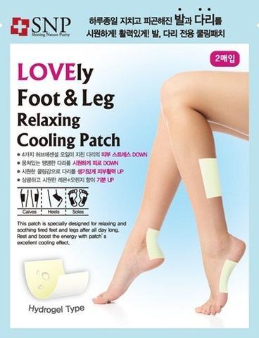 SNP Патчи охлаждающие расслабляющие для ног и ступней / Foot & Leg Relaxing Cooling Patch гидрогелевые патчи для глаз petitfee