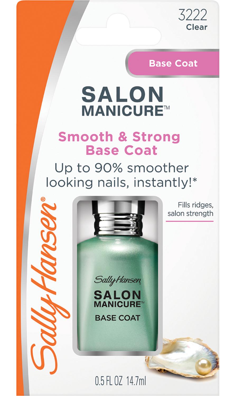 SALLY HANSEN Покрытие базовое выравнивающее и укрепляющее / salon manicure smooth  strong base coat