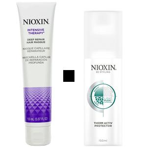 NIOXIN Набор подарочный (маска глубокое воосстановление волос 150 мл + термозащитный спрей мл)