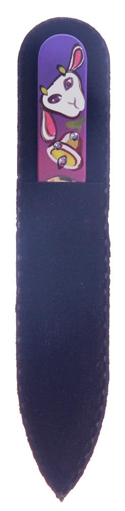 BOHEMIA PROFESSIONAL Пилочка стеклянная цветная с рисунком и кристаллами 90мм