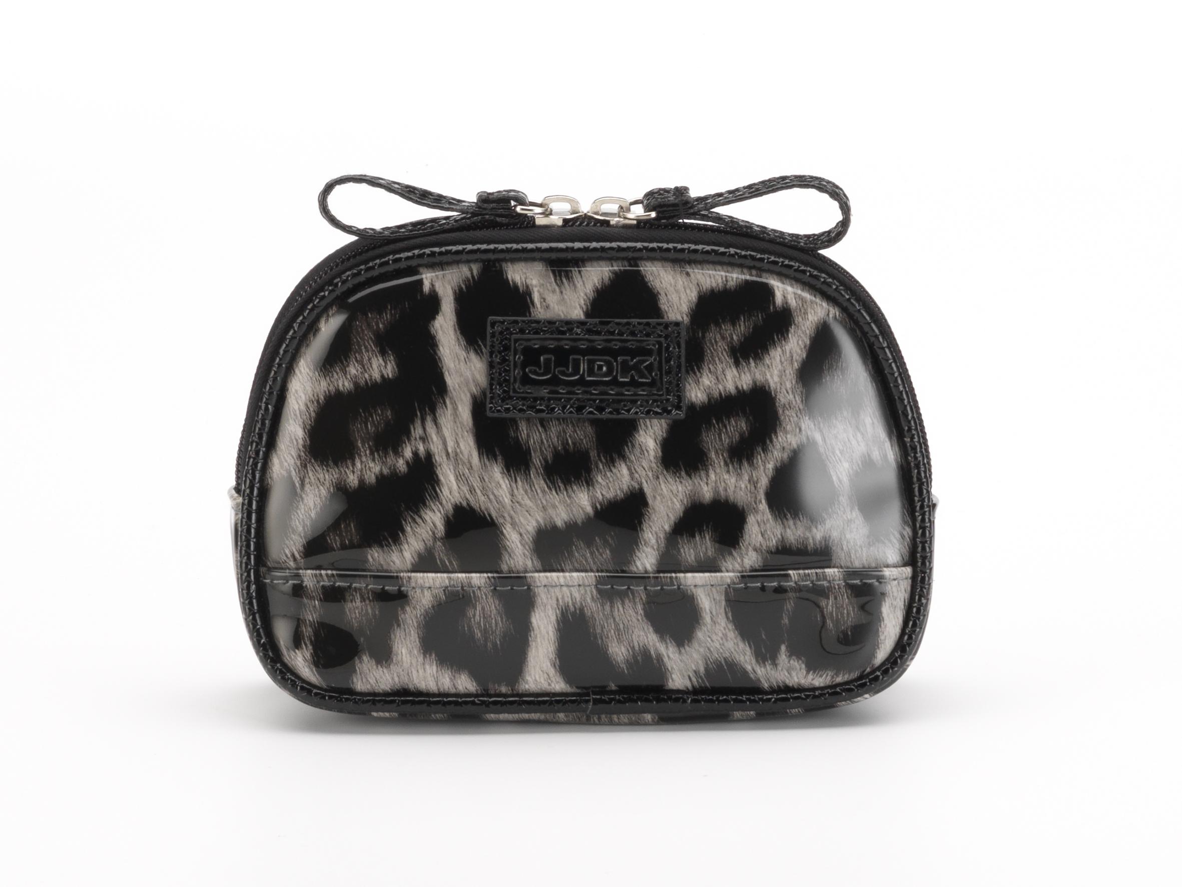 Купить JJDK Косметичка Oda leopard grey запечатанный хлопок, леопард серый