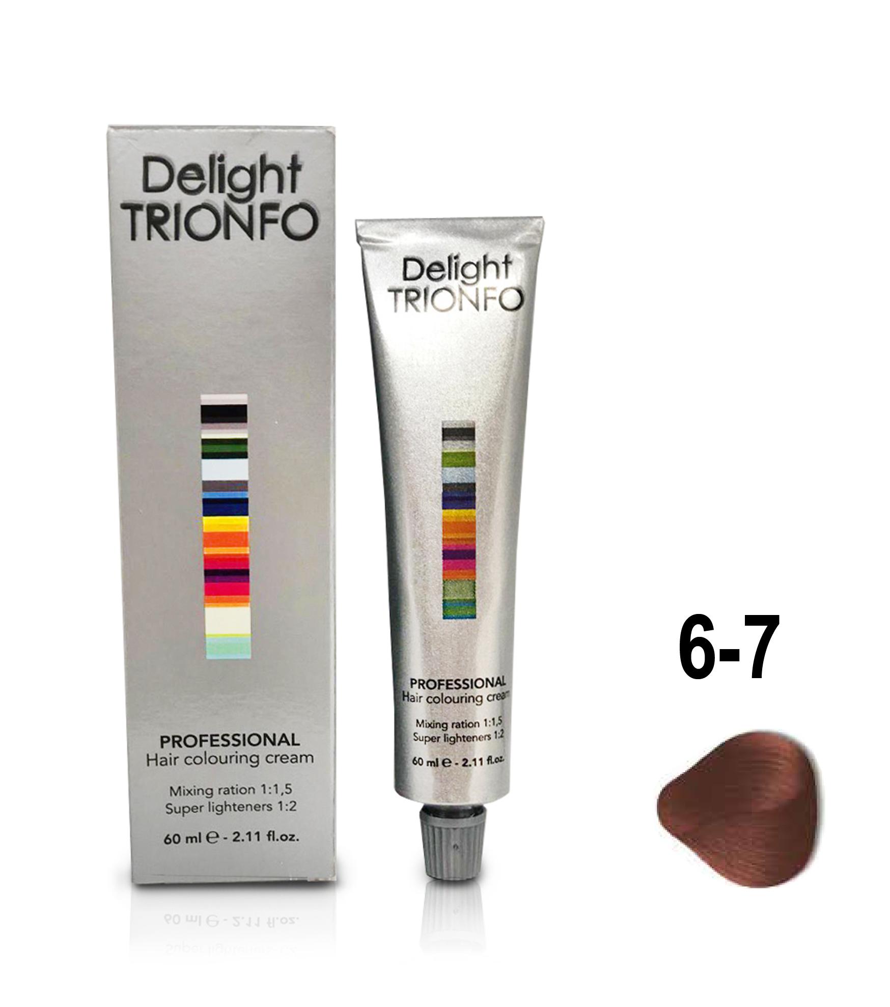 CONSTANT DELIGHT ДТ 6-7 крем-краска стойкая для волос, темно-русый медный / Delight TRIONFO 60 мл фото