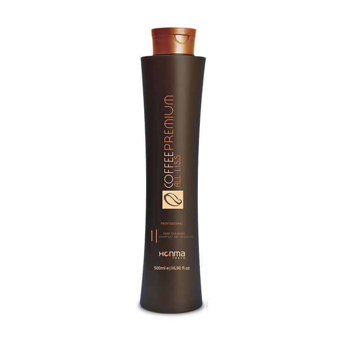 HONMA TOKYO Шампунь глубокой очистки / Coffee Premium All Liss 500 мл honma tokyo шампунь глубокой очистки линии n solutions 1000 мл