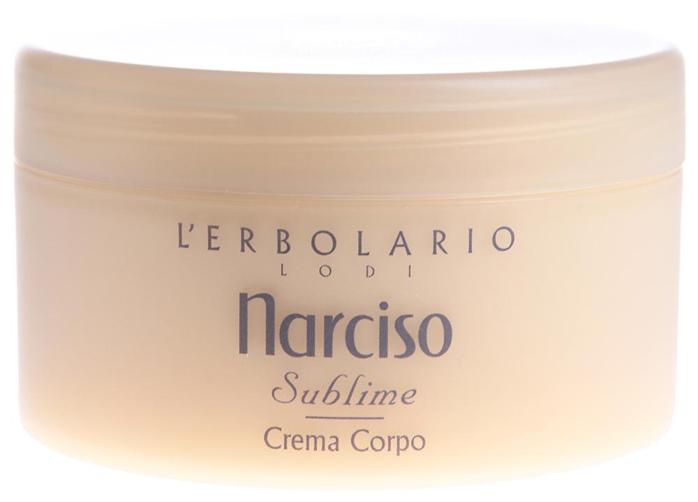 LERBOLARIO Крем для тела Прекрасный Нарцисс/Crema corpo Narciso 250 млКремы<br>Пьянящий аромат нарцисса станет Вашим благодаря этому нежнейшему крему, а несколько ласковых движений, необходимых для нанесения крема, окажут действенную помощь коже в борьбе с косметическими недостатками и проявлениями раннего старения. Тонизирующее и смягчающее действие нарцисса (присутствующего в составе крема в виде экстракта, водного дистиллята и жирорастворимого экстракта) усиливают масло из сладкого миндаля, неомыляемая фракция оливкового масла и овсяное молочко. Свою заметную роль в омоложении кожи играют также витамин молодости Е и экстракт меда.  Способ применения: После ванны или душа нанесите широкими легкими движениями крем для тела &amp;laquo;Прекрасный нарцисс&amp;raquo;. Он прекрасно впитывается, не оставляя жирных следов, и придает вам сладкий чувственный аромат прекрасного цветка под названием нарцисс.<br><br>Назначение: Старение