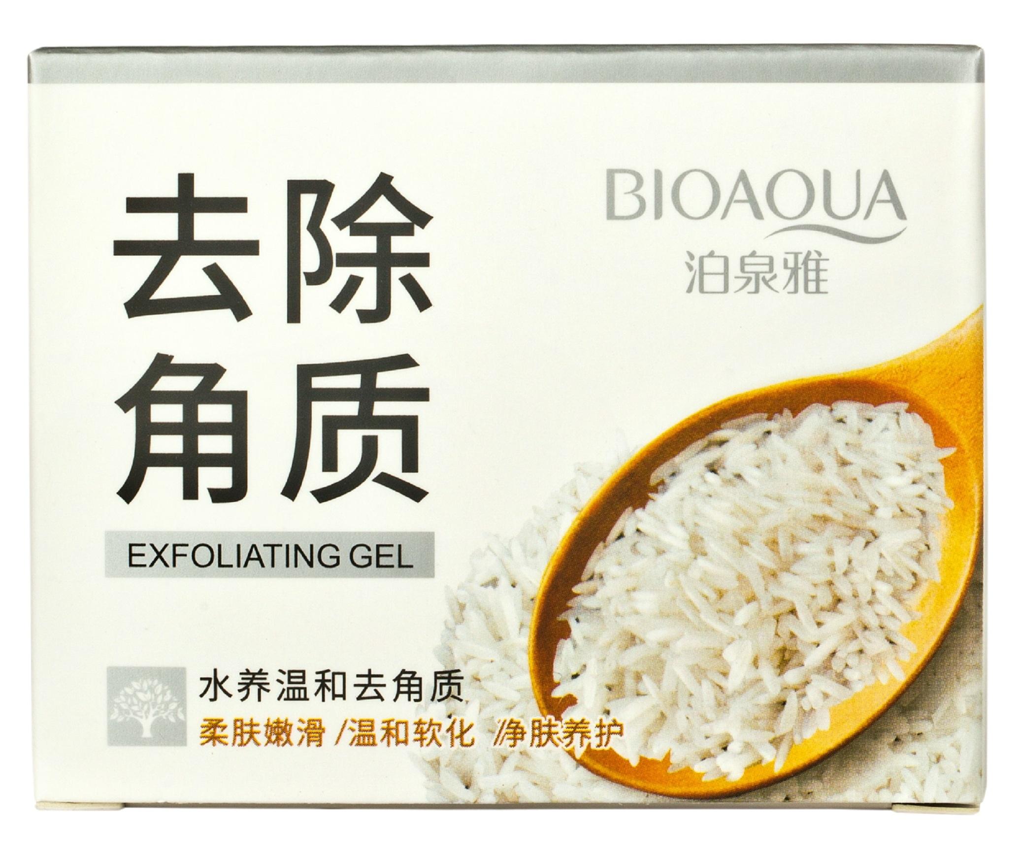 BIOAQUA Гель отшелушивающий с рисом для лица 140 г
