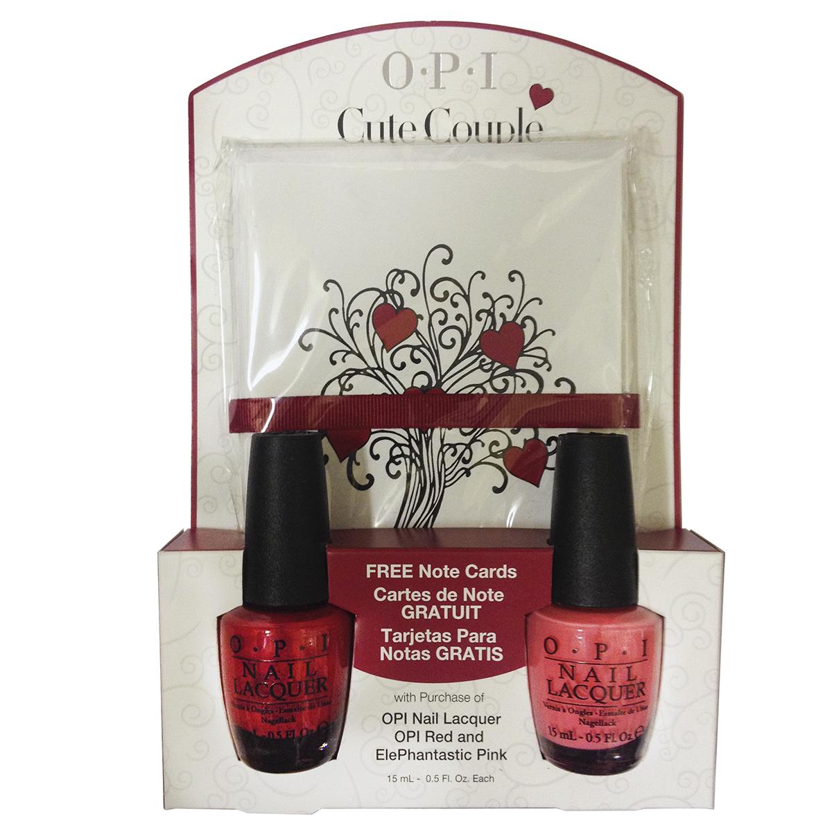 "OPI Набор ""Cute Couple"" (NLL72 + NLI42 + открытки-валентинки 8шт)~"