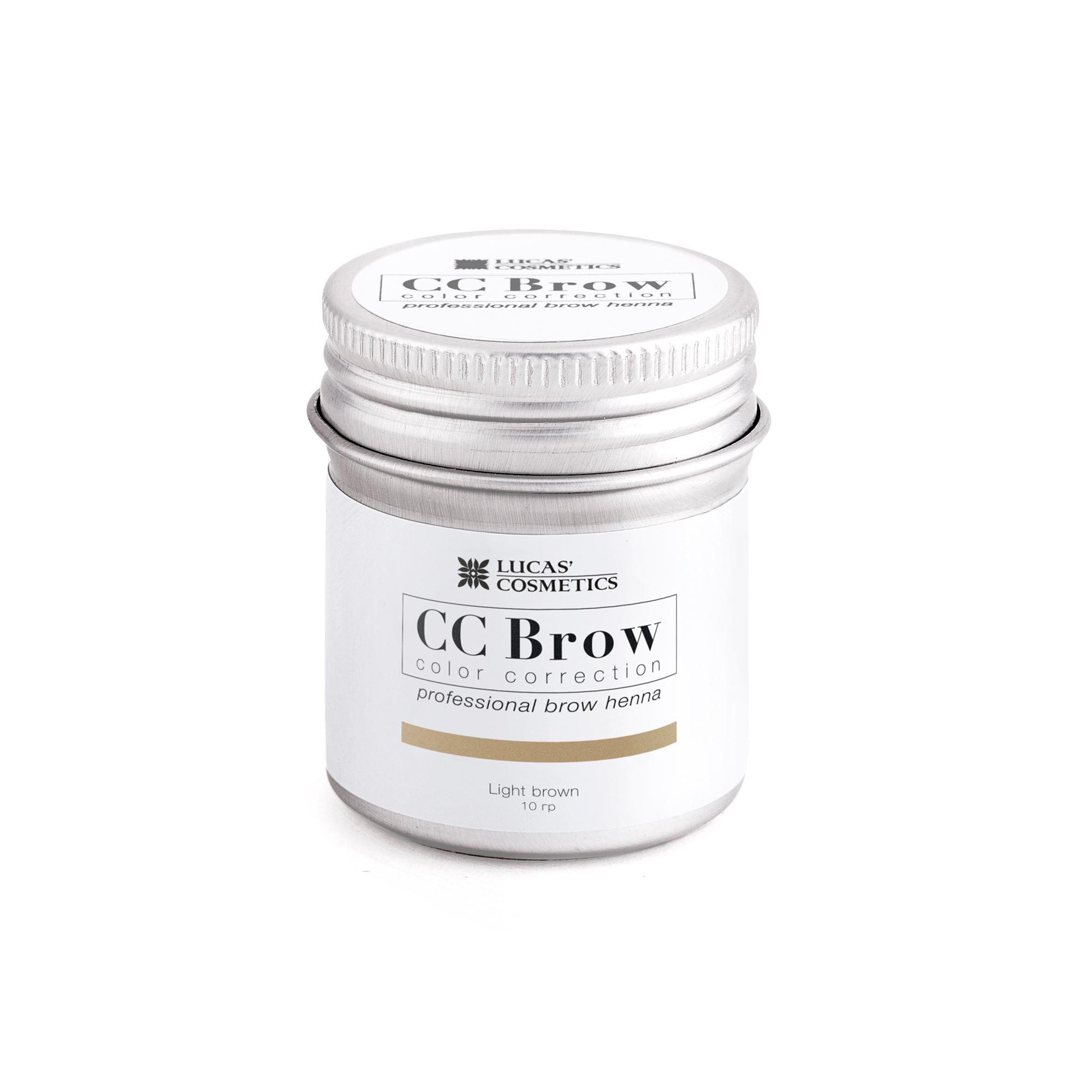 LUCAS' COSMETICS Хна для бровей в баночке (светло-коричневый) / CC Brow (light brown), 10 гр -  Краски для бровей