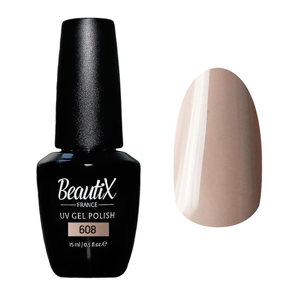 Купить BEAUTIX 608 гель-лак для ногтей 15 мл, Коричневые