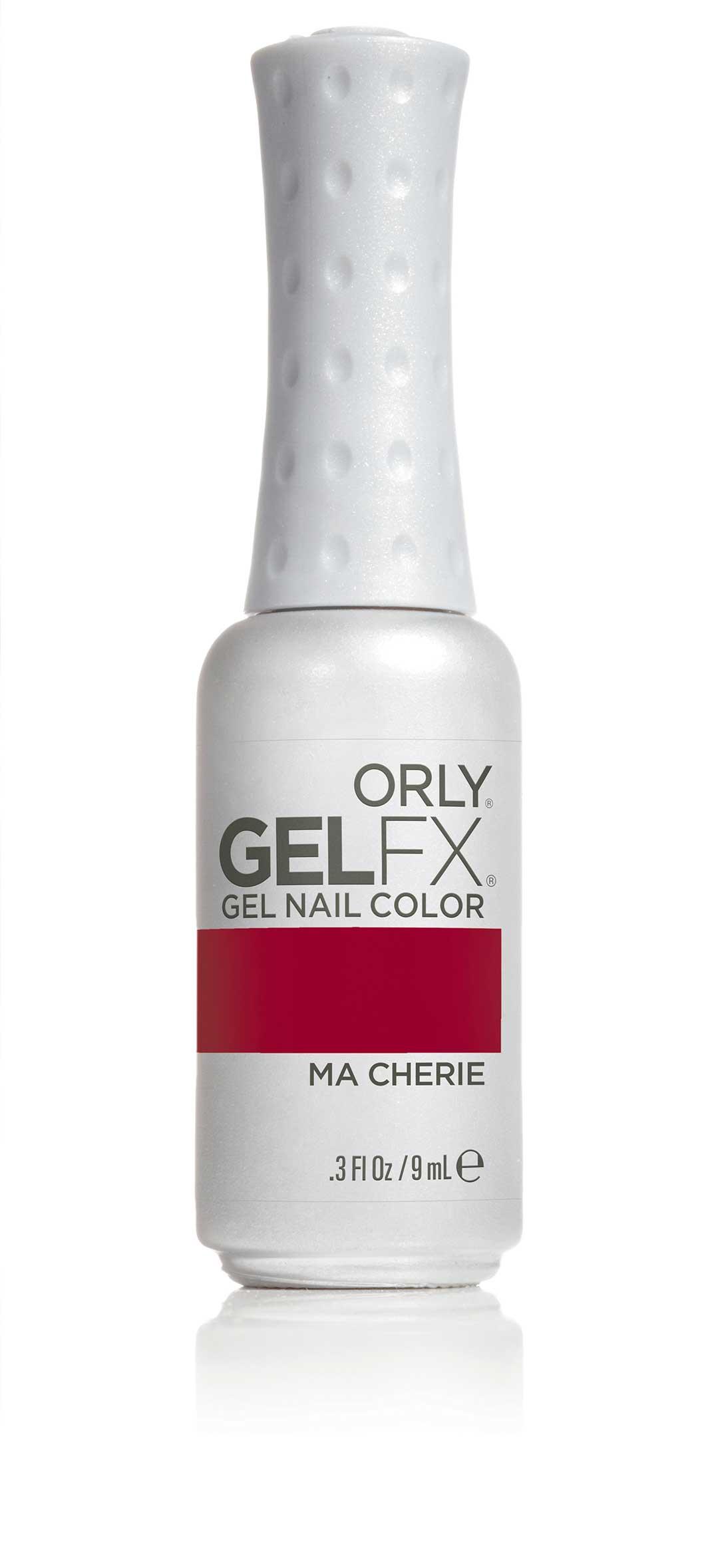 ORLY Гель-лак 25 MA CHERIE / GEL FX 9млГель-лаки<br>Цветные покрытия гель-лака GELFX – это широкая палитра, разнообразие цветов, яркие чистые оттенки. Гель-маникюр GELFX обеспечивает ногтям идеальное покрытие, дополнительное питание и уход. Он просто наносится, легко и безопасно снимается. Состав: Di-HEMA триметилгексил дикарбомат, HEMA, гидроксипропил метакрилат, полиэтилен гликоль 400 диметакрилат, этилацетат, бутилацетат, изопропил, триметилбензоил дифенилфосфин оксид, гидроксициклогексил фенил кетон. Способ применения: нанесите два тонких слоя выбранного цветного покрытия GELFX Nail Lacquer, запечатайте торец и полимеризуете каждый слой в лампе LED 480 FX в течение 30 секунд. Идеальный гель-маникюр возможен только при условии использования всех препаратов и аксессуаров системы GELFX от ORLY.<br><br>Цвет: Красные<br>Пол: Женский<br>Класс косметики: Универсальная<br>Виды лака: Глянцевые