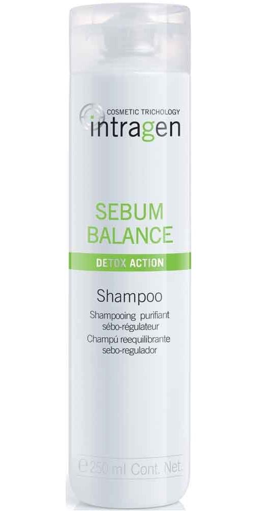 REVLON Шампунь для жирной кожи головы / SEBUM BALANCE INTRAGEN 250млШампуни<br>Шампунь глубокого действия, очищает кожу головы и уравновешивает выделение кожного сала, регулирует потожировой баланс кожи головы, нормализует секрецию сальных желез. Используется со средством для жирной кожи головы для лучшего результата. Не вызывает аллергической реакции. Значительно снижает избыток себума. Обеспечивает защиту волос до самой глубины - эффективное лечение и косметический эффект. Кератин укрепляет структуру волос, делая их более эластичными и прочными. Гиалуроновая кислота увлажняет волосяное волокно, волосы становятся более густыми и объемными. В результате применения системы шампунь + концентрат Intragen Cosmetics Trichology Sebum Balance Detox Action уже после 1 недели применения отмечено уменьшение выделения кожного сала на 27%, и подтвержден действенный эффект и видимый результат после 2-х раз использования*. *Результат научного эксперимента при участии мужчин и женщин: 20 человек тестировали продукцию системы Intragen Cosmetics Trichology Sebum Balance Detox Action шампунь + концентрат. Активные ингредиенты: кератин, гиалуроновая кислота. Способ применения: круговыми движениями нанести на влажные волосы, вспенить. Тщательно смыть и промокнуть волосы полотенцем. При попадании в глаза немедленно промыть их водой.<br><br>Тип кожи головы: Жирная<br>Пол: Женский<br>Класс косметики: Косметическая<br>Назначение: Перхоть