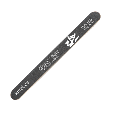 KINETICS Пилка 150/180 для натуральных и искуственных ногтей и педикюра / Krazy KatМаникюр-инструменты<br>Двусторонняя тонкая пилка на деревянной основе. Идеальный выбор для ухода за натуральными (180 грит) и искусственными (150 грит) ногтями. Сторона 150 грит также подходит для педикюра и мужского маникюра. Способ применения:&amp;nbsp;для работы с искусственными и натуральными ногтями и педикюра.&amp;nbsp;<br>