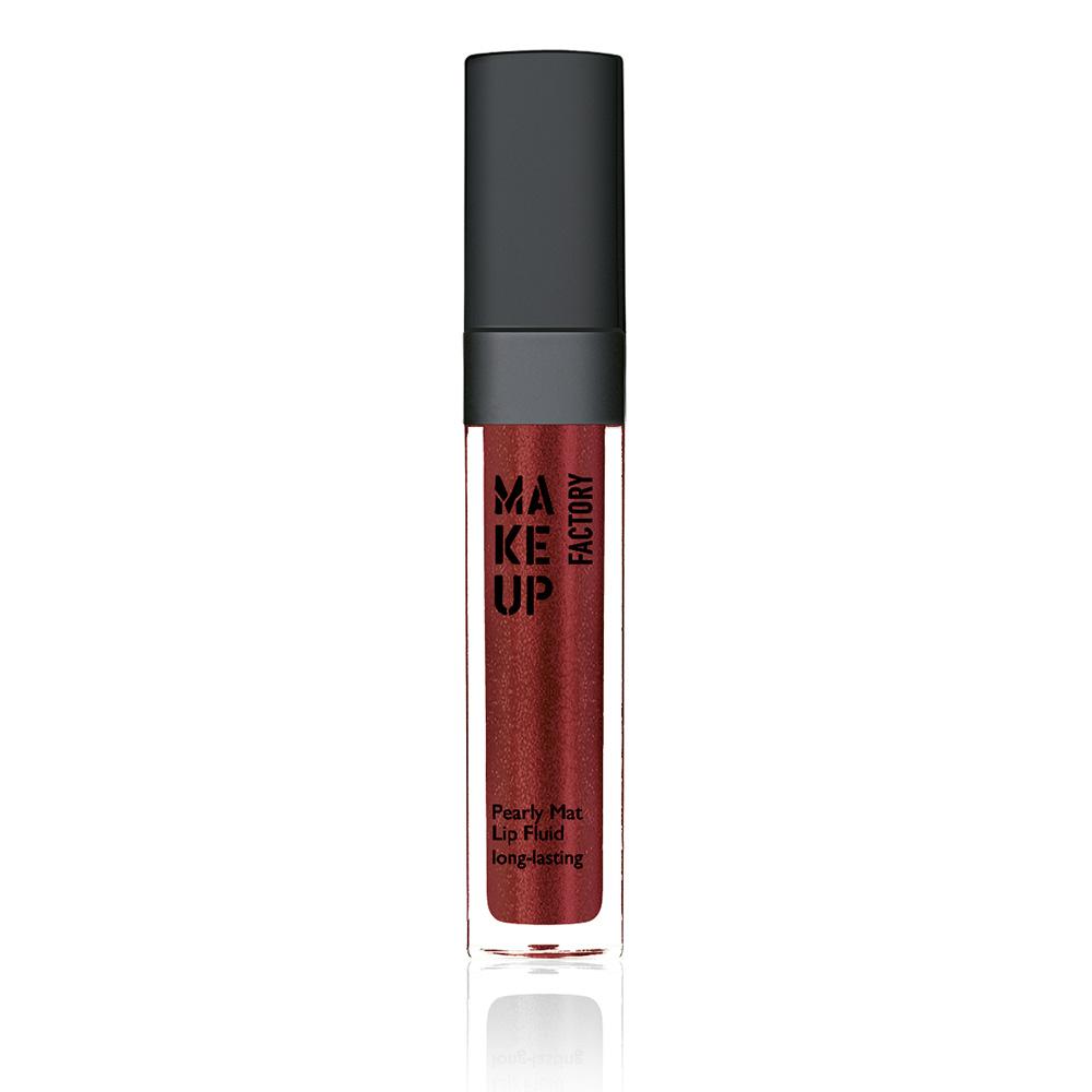 MAKE UP FACTORY Блеск-флюид перламутровый матовый устойчивый, 45 красный с золотом / Pearly Mat Lip Fluid 6,5 мл помада make up factory make up factory ma120lwhdq61