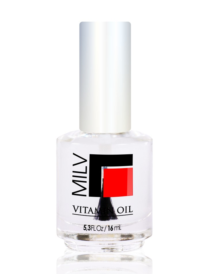 MILV Масло витаминное  Шалфей  / Vitamin Oil 16млОсобые средства<br>Масло витаминное  Шалфей . Продукт специально разработан для сухих, ломких ногтей и поврежденной кутикулы. Масло, которое смягчает, увлажняет, питает, восстанавливает и защищает ногти и кутикулу. Содержит витамины А и Е. Способ применения: нанести капельку масла на зону кутикулы. Массажными движениями втереть в ноготь и область кутикулы. Не смывать!<br>