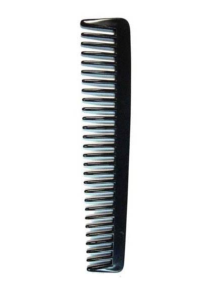 DEWAL PROFESSIONAL Расческа рабочая редкозубая Эконом (черная) 18 см