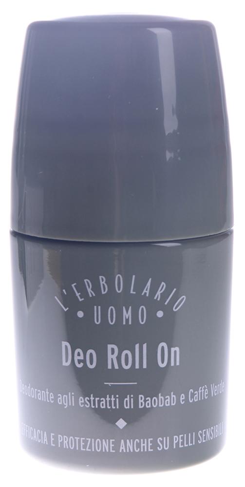 LERBOLARIO Дезодорант шариковый Баобаб 50 млТело<br>Для современного мужчины вполне естественно прожить насыщенный день, посвященный работе или отдыху, сохраняя ощущение свежести, если его защищает этот необыкновенный дезодорант. Жидкая эмульсия цвета слоновой кости. Не содержит спирта и солей алюминия. Предназначена для любого типа кожи, в том числе для самой чувствительной. Средство проверено на дерматологическую переносимость. Дезодорант проверен на отсутствие 7 металлов, вызывающих аллергию (никеля, свинца, мышьяка, кадмия, ртути, сурьмы и хрома), чтобы защитить самую чувствительную кожу. Не испытывается на животных, что подтверждено сертификатом  16 Института Сертификации экологической этики в соответствии с требованиями Лиги против вивисекции Активные ингредиенты: экстакт из плодов баобаба, масло из семян баобаба, эфиры воска хохобы, жидкий экстракт из зеленых кофейных зерен, витамин Е из соевых бобов, шикимовая кислота, триэтилцитрат, таниновая кислота, рицинолеат цинка из касторового масла. Способ применения: чтобы весь день сохранять чувство свежести, нанесите на чистую сухую кожу дезодорант при помощи удобного шарикового аппликатора и немного подождите, чтобы средство впиталось в кожу, прежде чем надевать одежду. Бодрящий, но нежный аромат усилит чувство защищенности от неприятного запаха.<br><br>Пол: Мужской