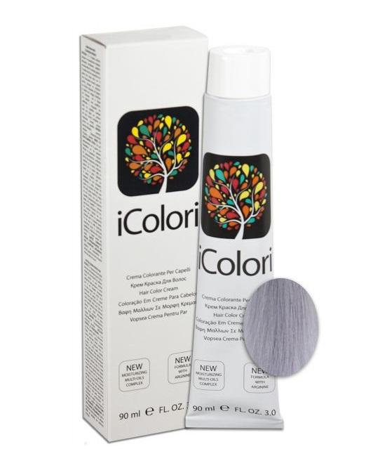 KAYPRO Краска для волос, серебро / ICOLORI 90млКраски<br>Инновационный стойкий краситель с минимальным содержанием аммиака. Так же содержит Аргинин, применение которого в профессиональных косметических средствах направлено на стимулирование роста волос, расширение сосудов кожи головы, способствует улучшению кровоснабжения и общему оздоровлению волосяного покрова. После окрашивания волосы становятся более блестящими и шелковистыми, цвет держится дольше. Все цвета можно смешивать между собой для получения широкого диапазона цветов. Крем-краска обладает повышенной степенью увлажнения, равномерной плотностью и стойкостью цвета - естественные цвета с богатыми тонами. Краситель был специально разработан, чтобы защитить волосы и кожу головы во время окрашивания. Легкий в применении. Способ применения: внимательно прочитайте инструкцию на упаковке! Всегда наносится на сухие немытые волосы! Не использовать металлические емкости для смешивания! Всегда одевать защитные перчатки! Провести предварительно тест на чувствительность. Определить натуральный уровень тона волос или уровень косметического тона окрашенных волос. Выберите желаемый цвет. Подготовить красящую смесь с наиболее подходящим процентом перекиси водорода iColori: 10 vol (3%) — 20 vol (6%) — 30 vol (9%) — 40 vol (12%). &amp;nbsp; Действие &amp;nbsp; Результат &amp;nbsp; Пропорции смешивания &amp;nbsp; &amp;nbsp;Оксидант &amp;nbsp; Время выдержки &amp;nbsp; Тон осветления &amp;nbsp; Перманентное окрашивание &amp;nbsp; 100&amp;nbsp;% окрашивание седых волос &amp;nbsp; 1:1,5 &amp;nbsp; 10-20-30-40 Vol &amp;nbsp; 30-40 &amp;nbsp; 1-3 &amp;nbsp; Осветление &amp;nbsp; &amp;nbsp; 1:2 &amp;nbsp; 40&amp;nbsp;Vol &amp;nbsp; 40-50 &amp;nbsp; 4 &amp;nbsp; Тонирование &amp;nbsp; Окрашивание седых волос на&amp;nbsp;70&amp;nbsp;% &amp;nbsp; 1:2 &amp;nbsp; 7&amp;nbsp;Vol &amp;nbsp; 20-25 &amp;nbsp; - Основные принципы теории цвета. Основные цвета: красный, желтый и синий. Путем смешивания основных цветов в равных частях получаются