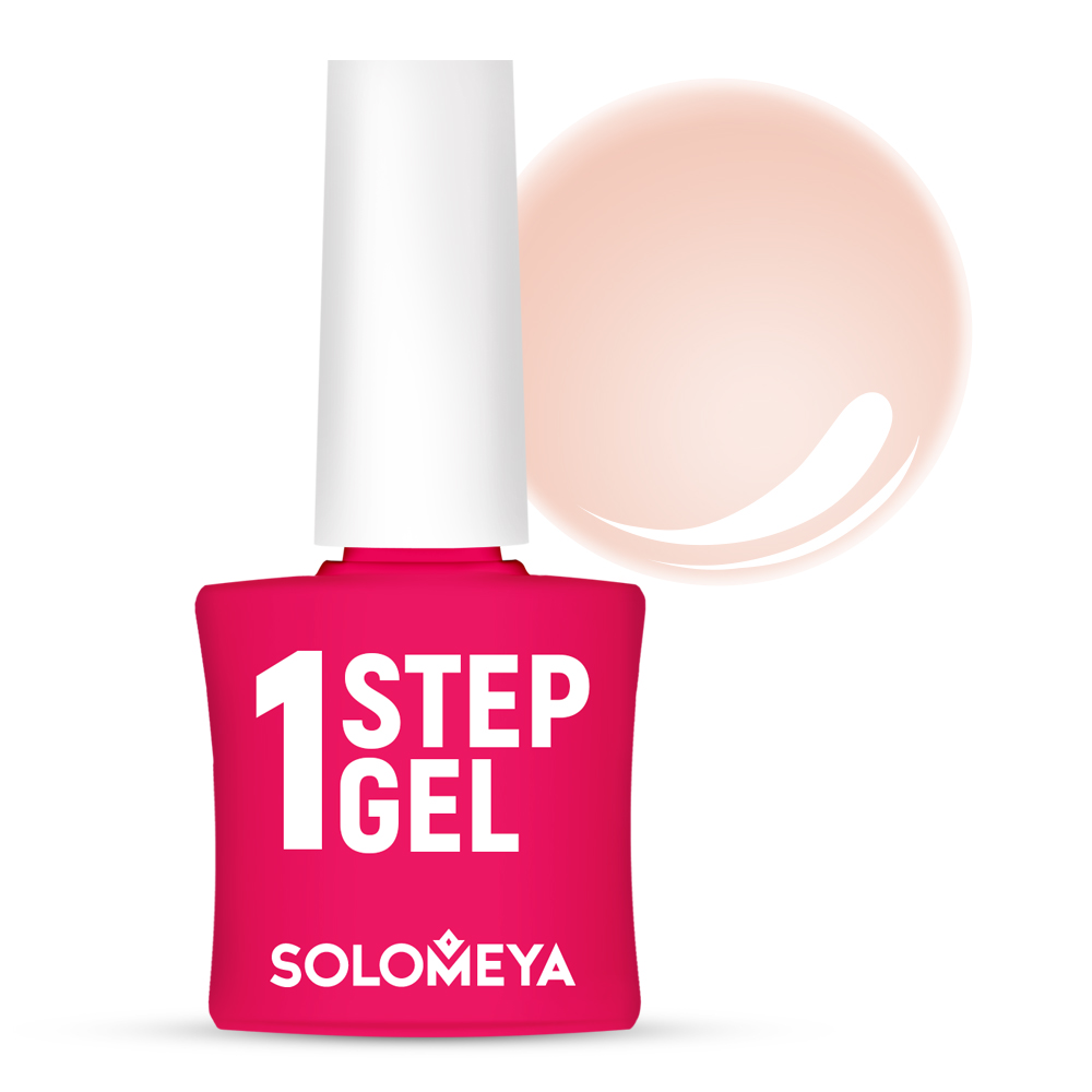 Купить SOLOMEYA Гель-лак однофазный для ногтей, 3 персик / One Step Gel Peach 5 мл, Розовые