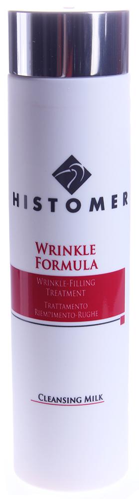 HISTOMER Молочко очищающее / Cleansing Milk WRINKLE FORMULA 200млМолочко<br>Назначение: смываемое молочко нежно очищает кожу и готовит ее к интенсивному уходу против морщин Wrinkle Formula. Активные ингредиенты уже с самого первого шага процедуры начинают свою работу по устранению или предупреждению морщин. Активные ингредиенты: хистомерные клетки растений (стимулирующие клеточное дыхание и всецелое обновление тканей кожи), лимонная кислота, восстановительный комплекс CLR (Repair Complex &amp;mdash; лизат бифидоферментов отвечает за регенерацию структур ДНК клеток кожи, поврежденных внешними или генетическими факторами).<br><br>Типы кожи: Сухая и обезвоженная<br>Назначение: Морщины