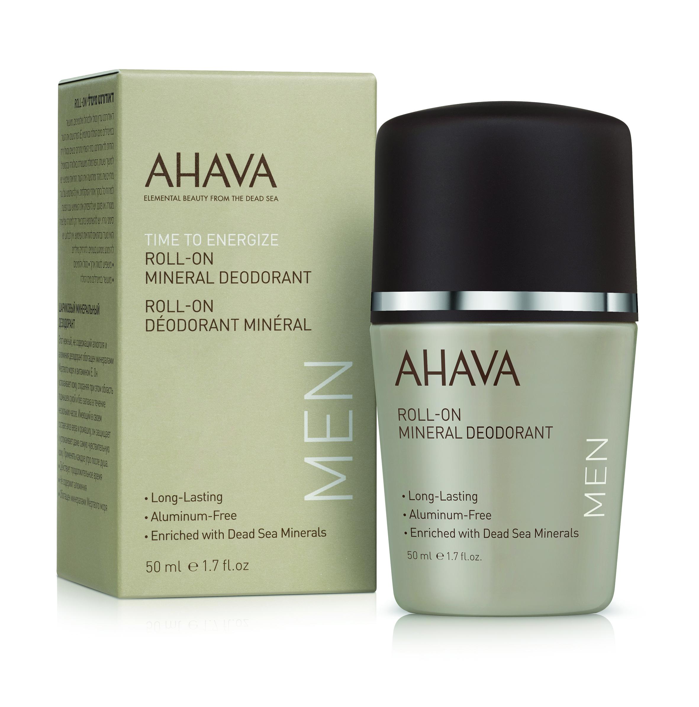 AHAVA Дезодорант шариковый минеральный для мужчин / Time To Energize 50 мл - Дезодоранты