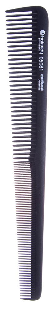 HAIRWAY Расческа Carbon Advance комбинированная конусная 175мм-Расчески<br>Расчёска комбинированная конусная. 175 мм.<br>