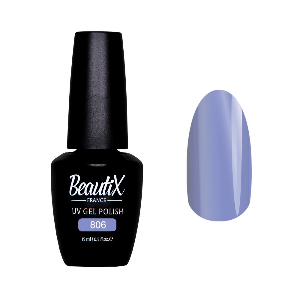 Купить BEAUTIX 806 гель лак для ногтей 15 мл, Фиолетовые