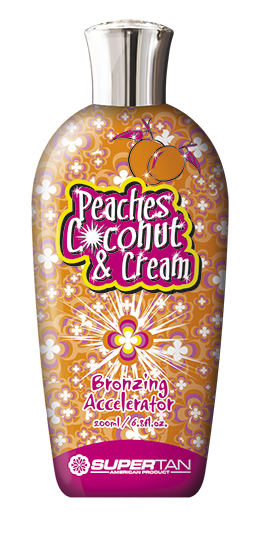 SUPER TAN Активатор загара, персик и сливки / Peaches Coconut and Cream 200 мл - Лосьоны