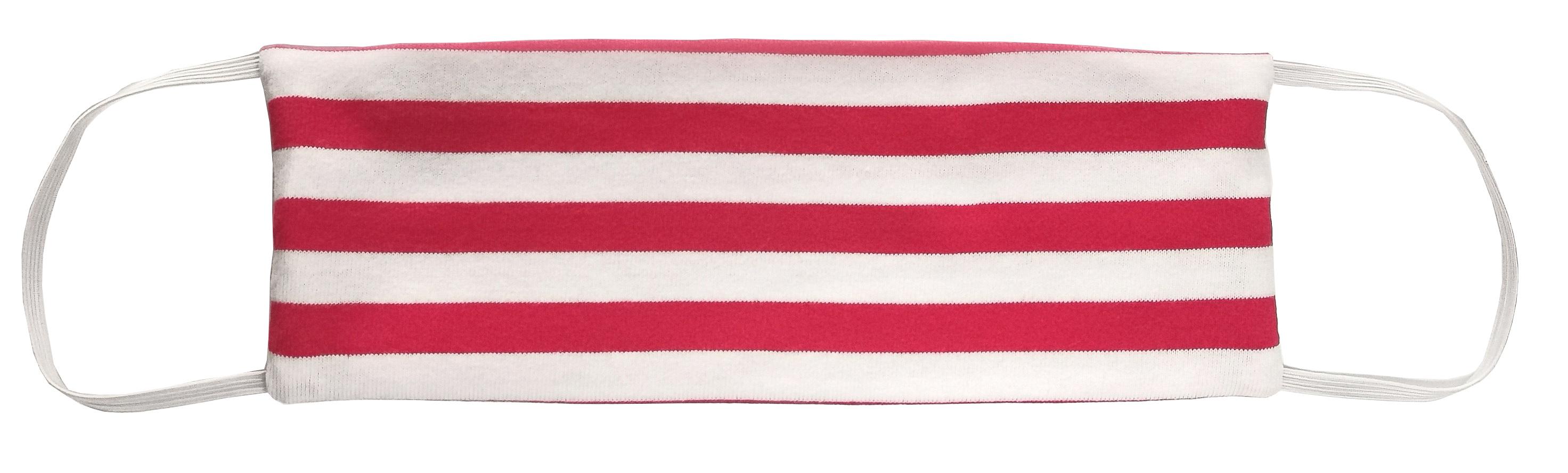 AGLAE MICHON Маска декоративная многоразовая с карманом для фильтра, цвет красно-белая полоска 1 шт