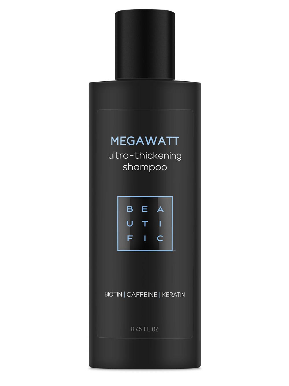 BEAUTIFIC Шампунь для ультра-объема и густоты волос с биотином, кофеином и кератином / Megawatt 250 мл фото