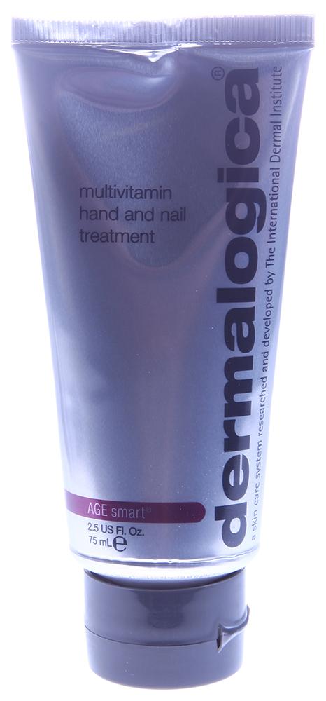 DERMALOGICA Уход мультивитаминный для рук и ногтей / MV Hand &amp; Nail Treatment AGE SMART 75млКремы<br>Мультивитаминный уход для рук и ногтей для всех состояний, особенно для потрескавшейся, поврежденной кожи рук и ломких ногтей. Средство активно увлажняет кожу рук, эффективно устраняет признаки преждевременного старения и гиперпигментацию, укрепляет ломкие ногти и заживляет трещины. Активные ингредиенты: гиалуронат натрия, аллантоин и пантенол, органические силиконы. Способ применения: пользуйтесь средством ежедневно, столько раз, сколько это необходимо. Пользуйтесь чаще при ветреной и холодной погоде.<br>