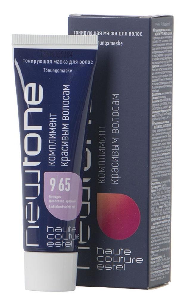 ESTEL HAUTE COUTURE 9/65 маска тонирующая для волос, блондин фиолетово-красный / NEWTONE ESTEL 60 мл