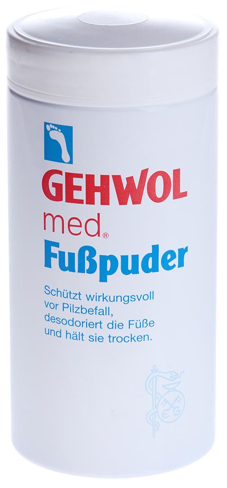 GEHWOL Пудра геволь-мед 100грПудры<br>Пудра-адсорбент для решения проблемы влажных ног, грибка и неприятного запаха. Пудра предупреждает болезни ног, связанные с излишком влаги и процессом разложения пота на поверхности кожи, препятствует раздражению и воспалению кожи ног. Она впитывает влагу с поверхности кожи и помогает сохранять ноги сухими, избавляет от неприятного запаха, дезодорируя кожу. Освежающие компоненты создают ощущение легкости и прохлады. Пудра также придает коже ощущение нежности и бархатистости. Особенно рекомендуется как защитное от инфицирования средство в открытой обуви. Активные ингредиенты: Тальк, крахмал тапиоки, оксид цинка, клотримазол, бисаболол, ментол, триклозан.  Применение: Наносится непосредственно на кожу, а также в обувь и носки.<br><br>Объем: 100
