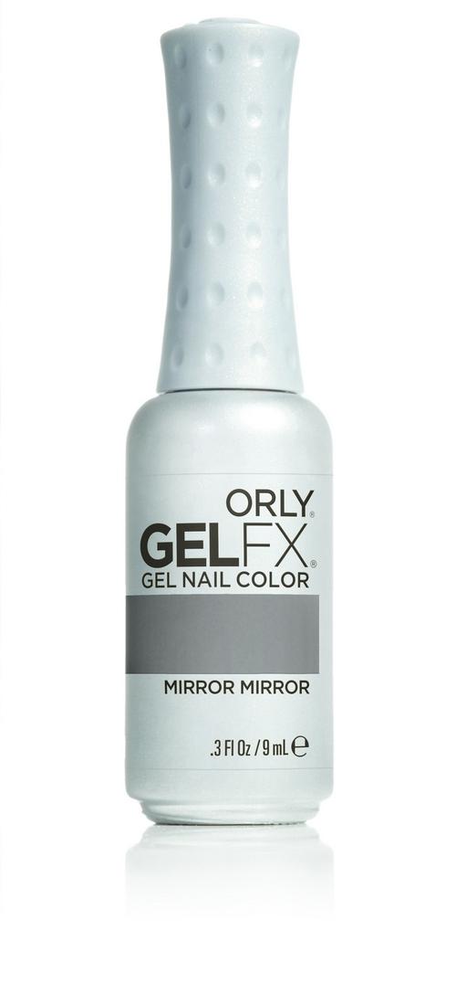 ORLY Гель-лак 713 MIRROR, MIRROR / GEL FX 9млГель-лаки<br>Цветные покрытия гель-лака GELFX – это широкая палитра, разнообразие цветов, яркие чистые оттенки. Гель-маникюр GELFX обеспечивает ногтям идеальное покрытие, дополнительное питание и уход. Он просто наносится, легко и безопасно снимается. Состав: Di-HEMA триметилгексил дикарбомат, HEMA, гидроксипропил метакрилат, полиэтилен гликоль 400 диметакрилат, этилацетат, бутилацетат, изопропил, триметилбензоил дифенилфосфин оксид, гидроксициклогексил фенил кетон. Способ применения: нанесите два тонких слоя выбранного цветного покрытия GELFX Nail Lacquer, запечатайте торец и полимеризуете каждый слой в лампе LED 480 FX в течение 30 секунд. Идеальный гель-маникюр возможен только при условии использования всех препаратов и аксессуаров системы GELFX от ORLY.<br><br>Цвет: Серые<br>Пол: Женский<br>Класс косметики: Универсальная<br>Виды лака: Глянцевые