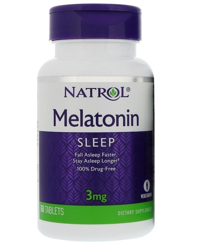 Купить NATROL Добавка биологически активная к пище Мелатонин / Melatonin 3 мг 60 таблеток