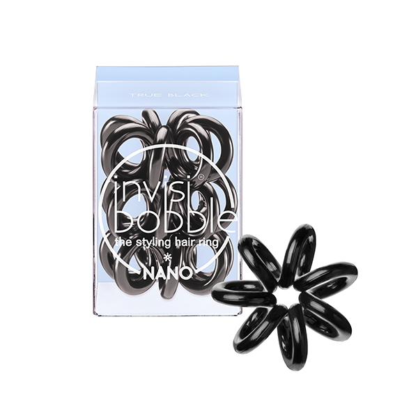 INVISIBOBBLE Резинка-браслет для волос Invisibobble NANO True BlackРезинки<br>Резинка-браслет Invisibobble подходит для повседневного использования, для занятий плаванием, бегом и другими видами спорта. Кроме того, ее можно носить как стильный браслет. Состав:&amp;nbsp;полиуретан.<br>